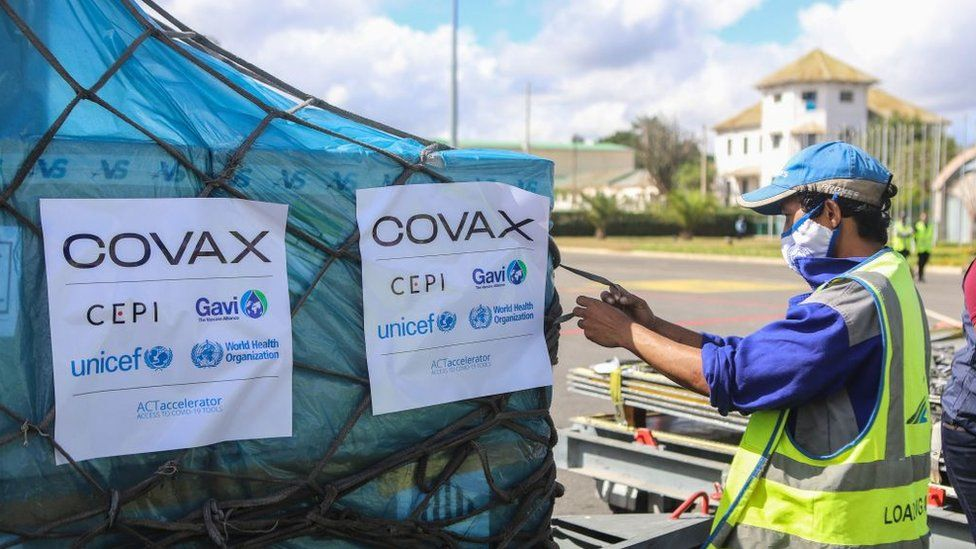 Covax supplied AstraZeneca Covid vaccines arriving in Madagascar in May 2021