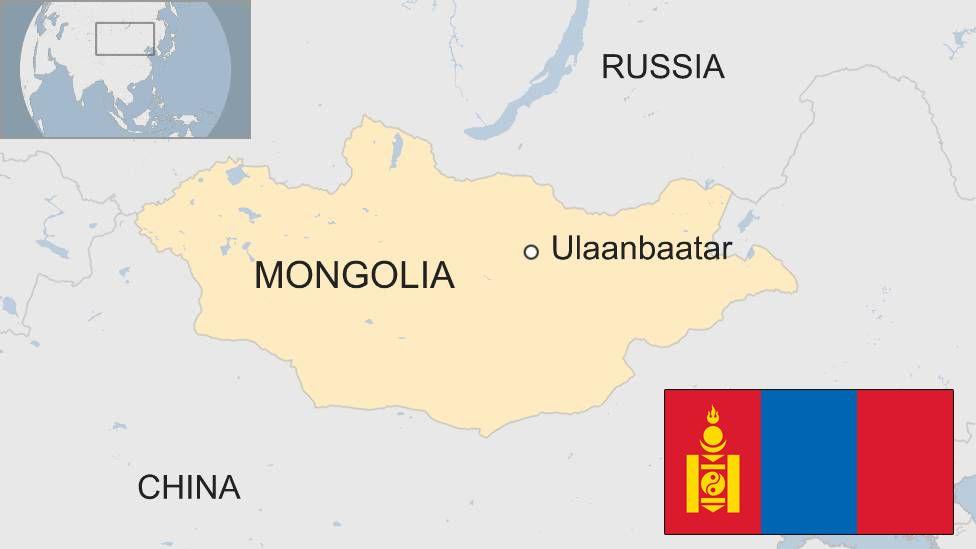 Map showing Mongolia