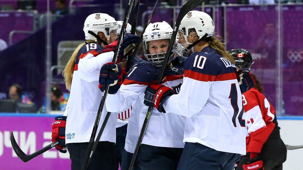 USA women's hockey team