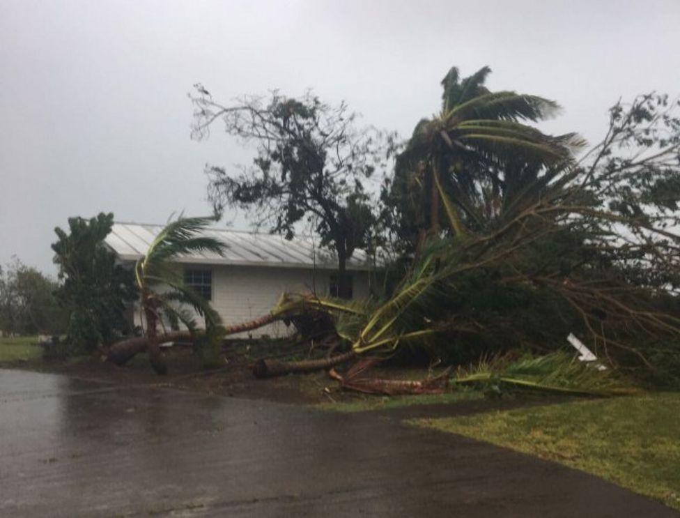 St Eustatius Adası'nda da büyük bir yıkım yaşandı.