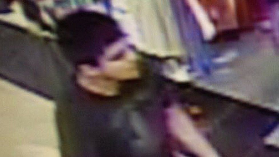 Video image provided by Skagit County Department of Emergency Management shows suspect wanted regarding shooting at Cascade Mall in Burlington. 23 Sep 2016