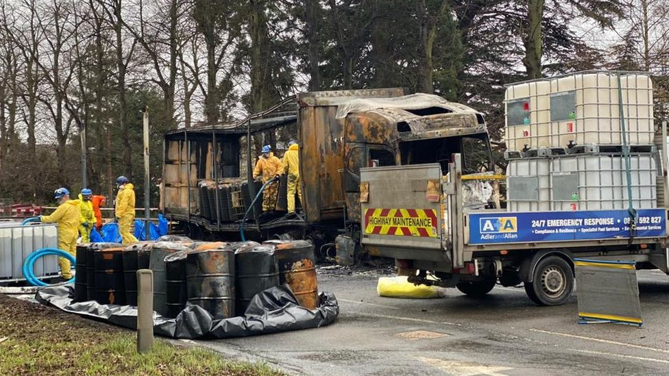 St Ives lorry fire