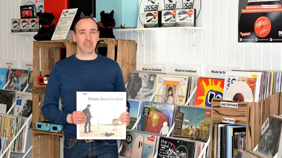Keith Ingram, owner of vinyl records shop Assai Records