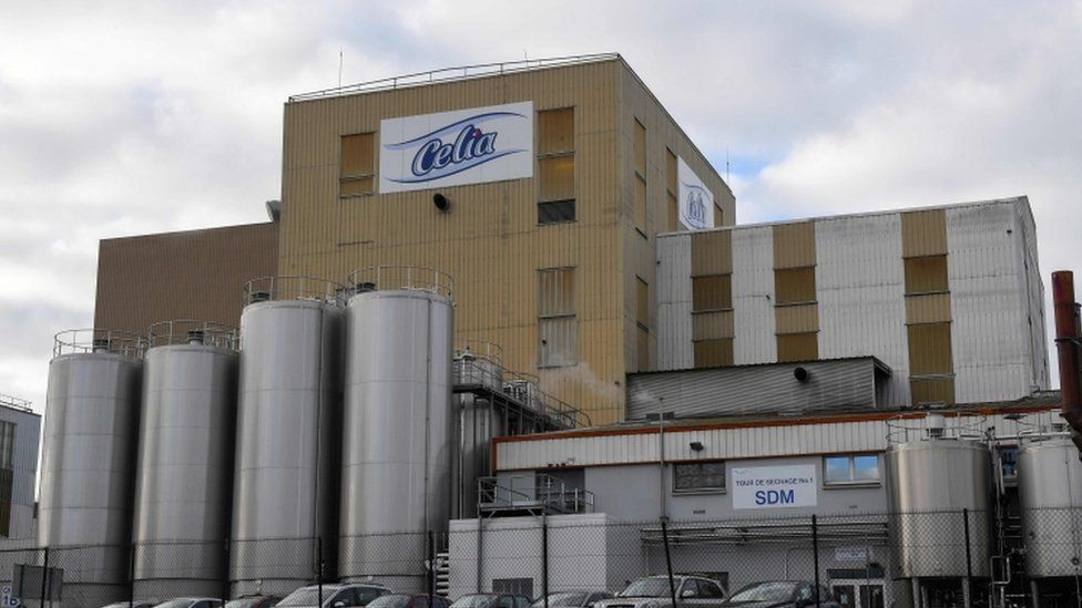 External photograph of Celia factory where outbreak has been traced back to.