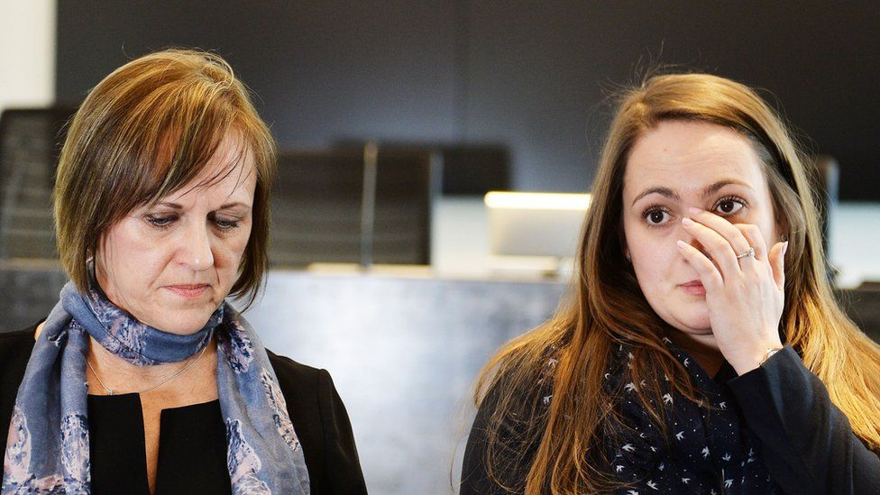 """Oliver Dearlove""""s mother Joy Wright (left) and girlfriend Claire Wheatley (right)"""