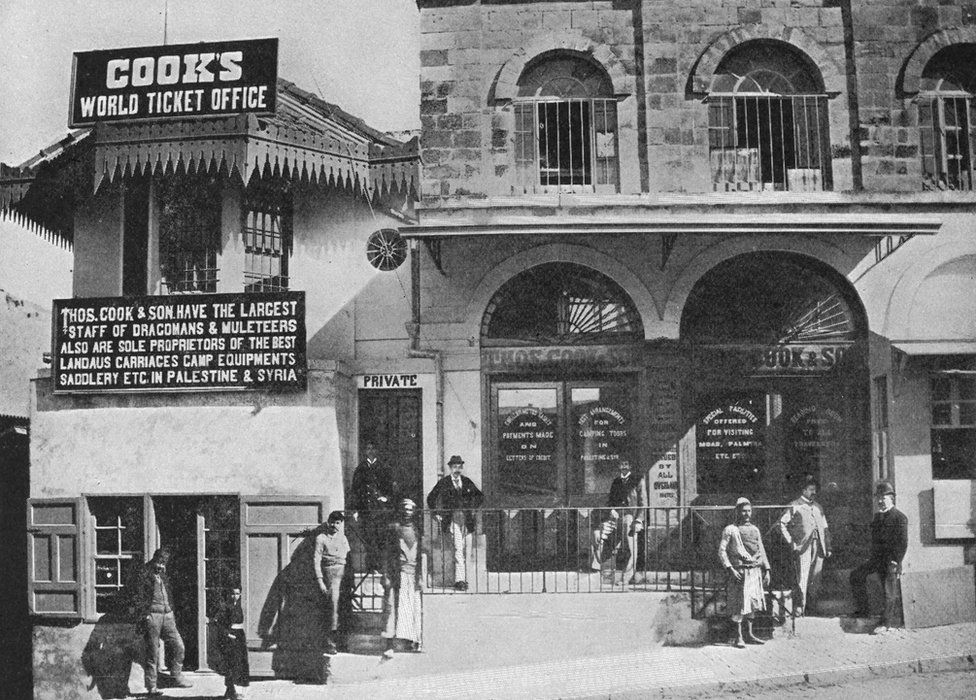 Thomas Cook's World Ticket Office in 1900's Jerusalem