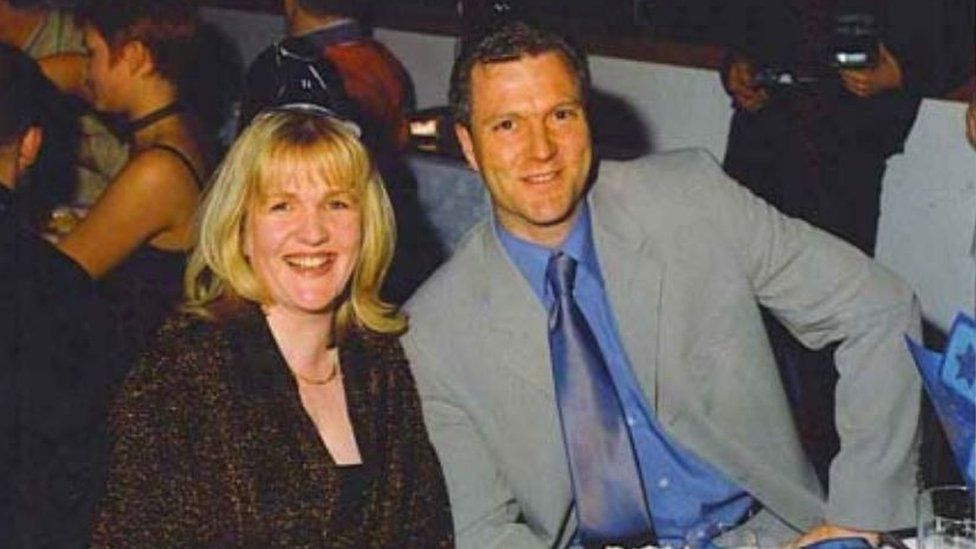 Caroline McGuiness with her then husband Ian Allan
