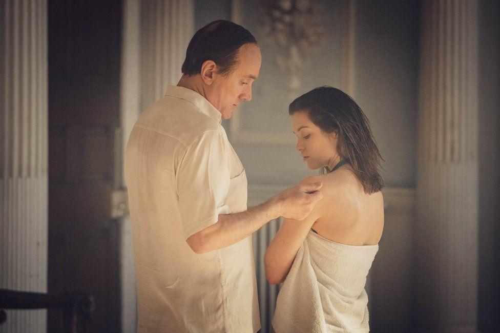 Ben Miles as John Profumo and Sophie Cookson as Christine Keeler