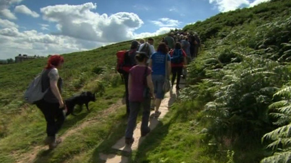 """Protestors said Ilkley Moor could be used """"so much better"""""""