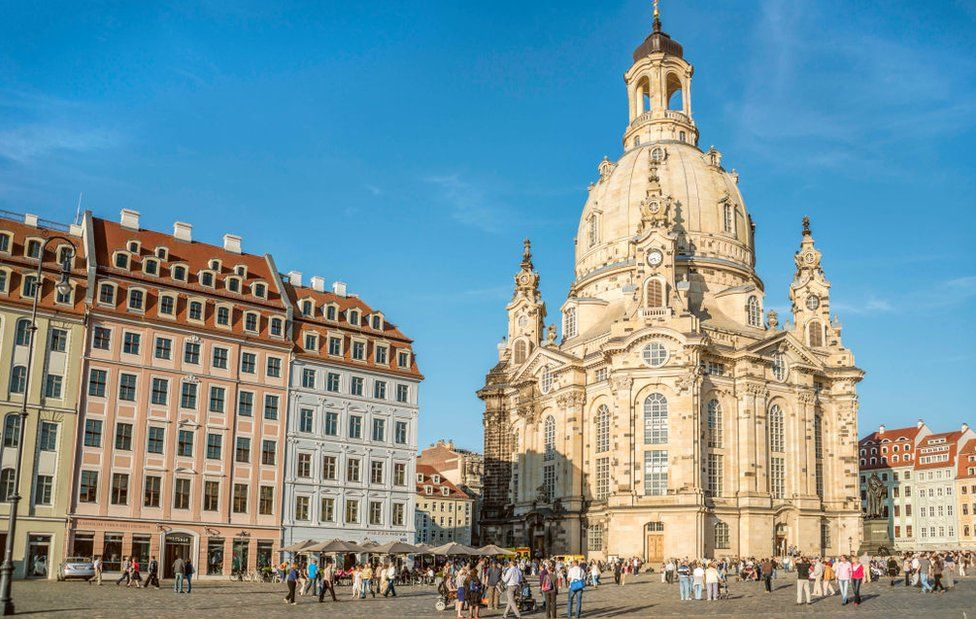 The Dresden Frauenkirche pictured in 2012