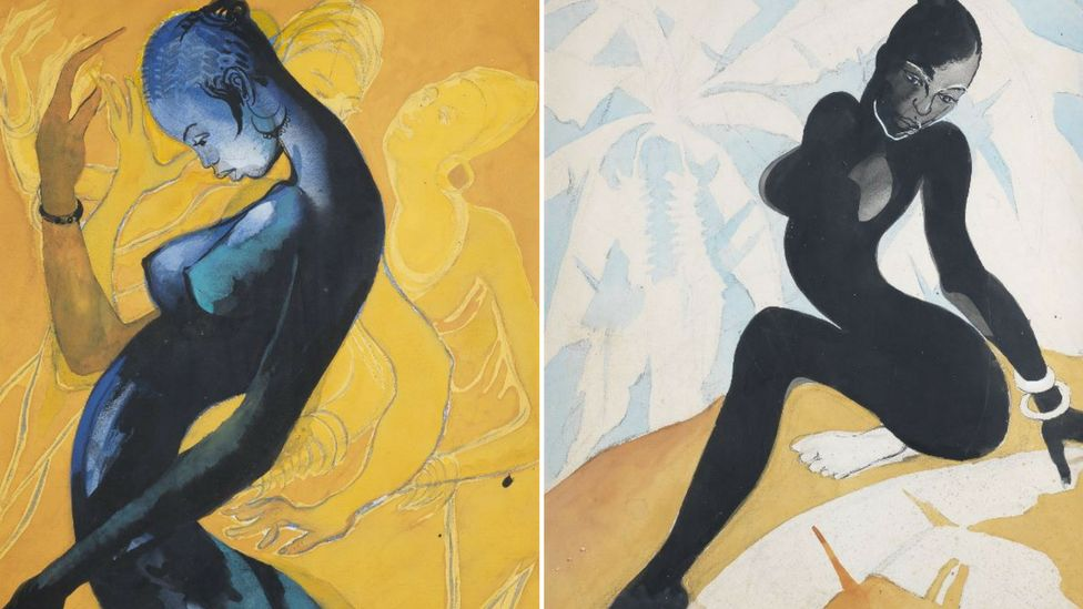 Two paintings by Ewonwu