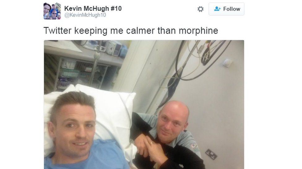The Donegal striker is awaiting surgery in Galway