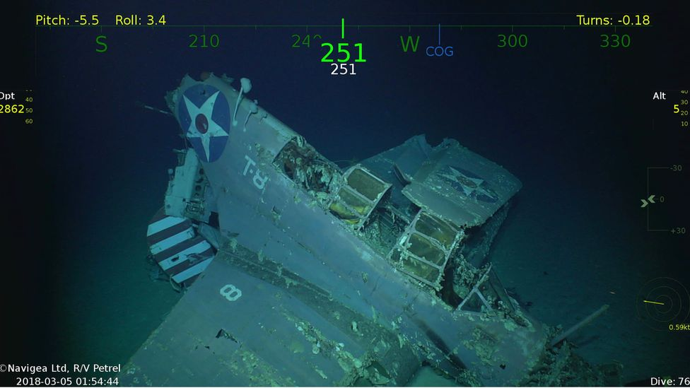 A Douglas TBD-1 Devastator aircraft discovered with the wreck