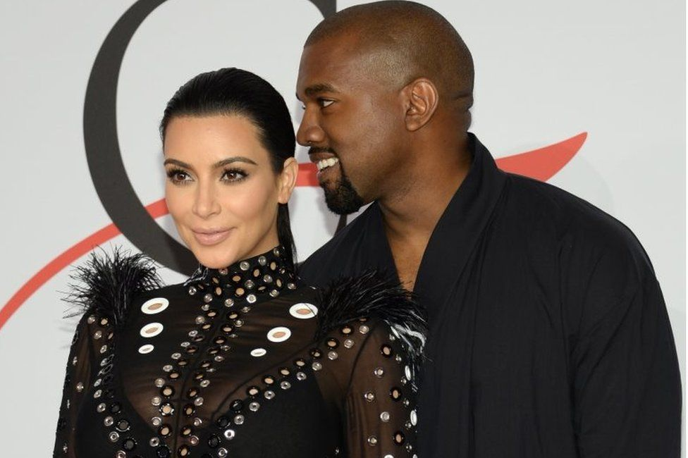 Kim Kardashian and Kanye West (June 2015)