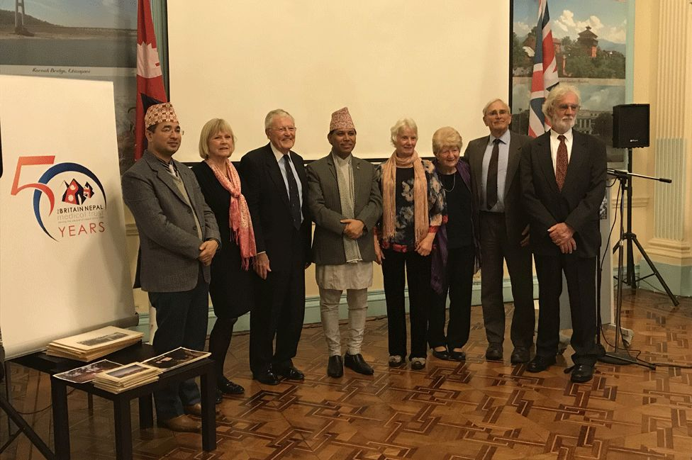 Some of the original team at the Nepalese embassy in London in 2017