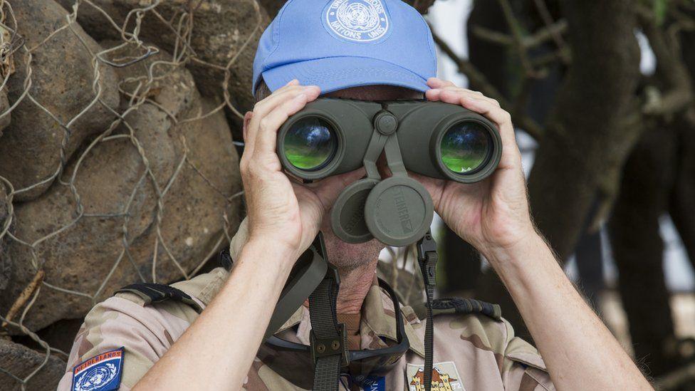 UN peacekeeper in the Golan Heights