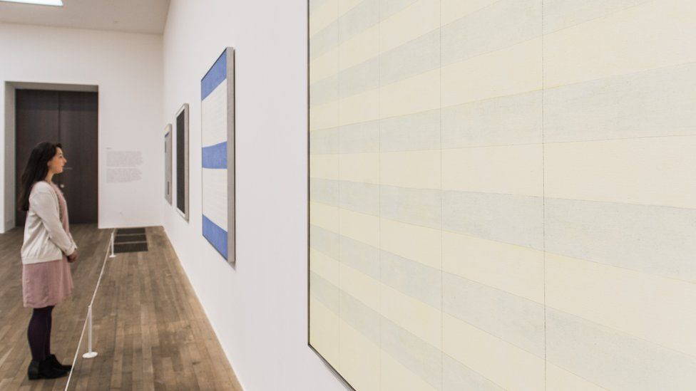 Agnes Martin exhibition, Tate Modern, 2015