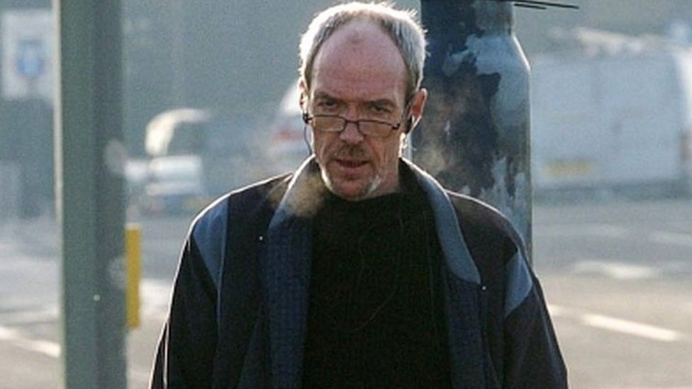 David McGreavy leaving Liverpool after a visit to a hostel.