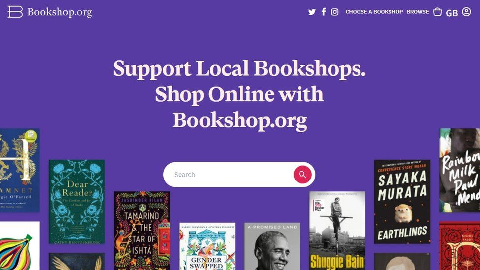Bookshop.org's website