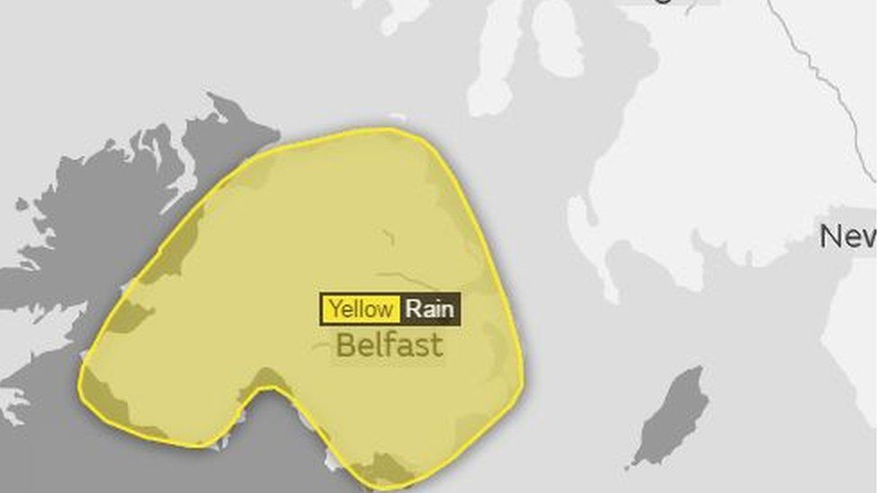 Yellow rain warning issued for 19 October