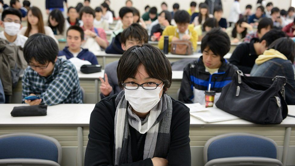 JAPAN, KYOTO - MARCH 29 : Students in the Kyoto university. Kyoto university is the one of the most famous universities in Japan in Kyoto on March 29, 2015 in Kyoto, Japan
