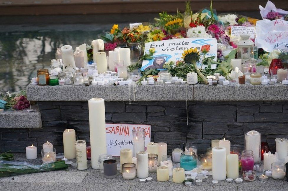 People have continued to lay tributes in Pegler Square