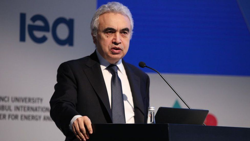 IEA executive director Fatih Birol is warning that there will need to be much more investment in clean energy to reduce carbon emissions
