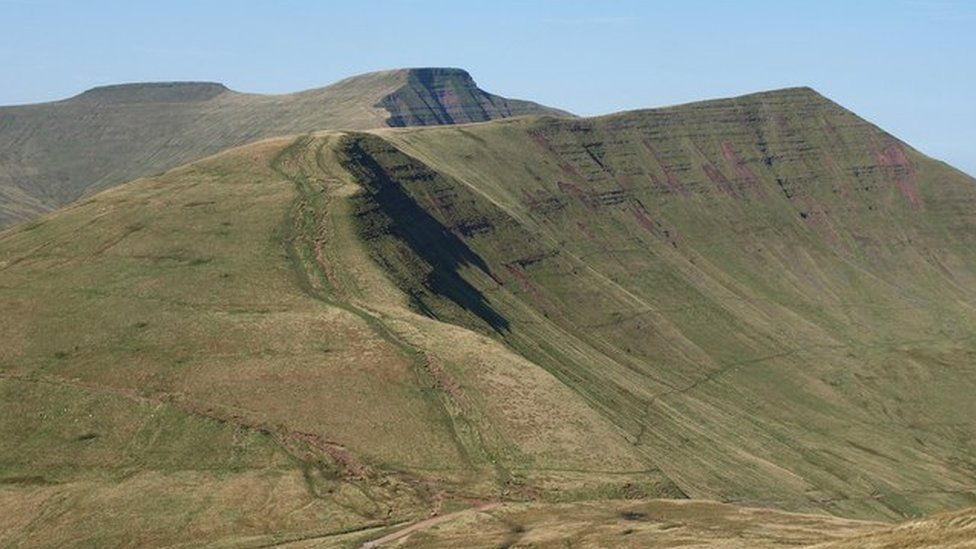 Brecon Beacons with Pen y Fan in the background