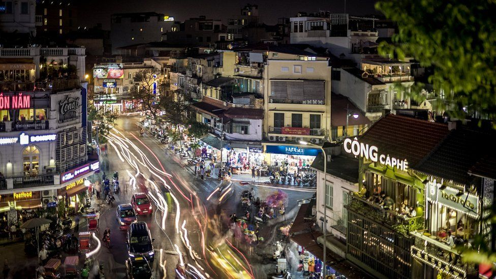 Vietnam's capital Hanoi at night