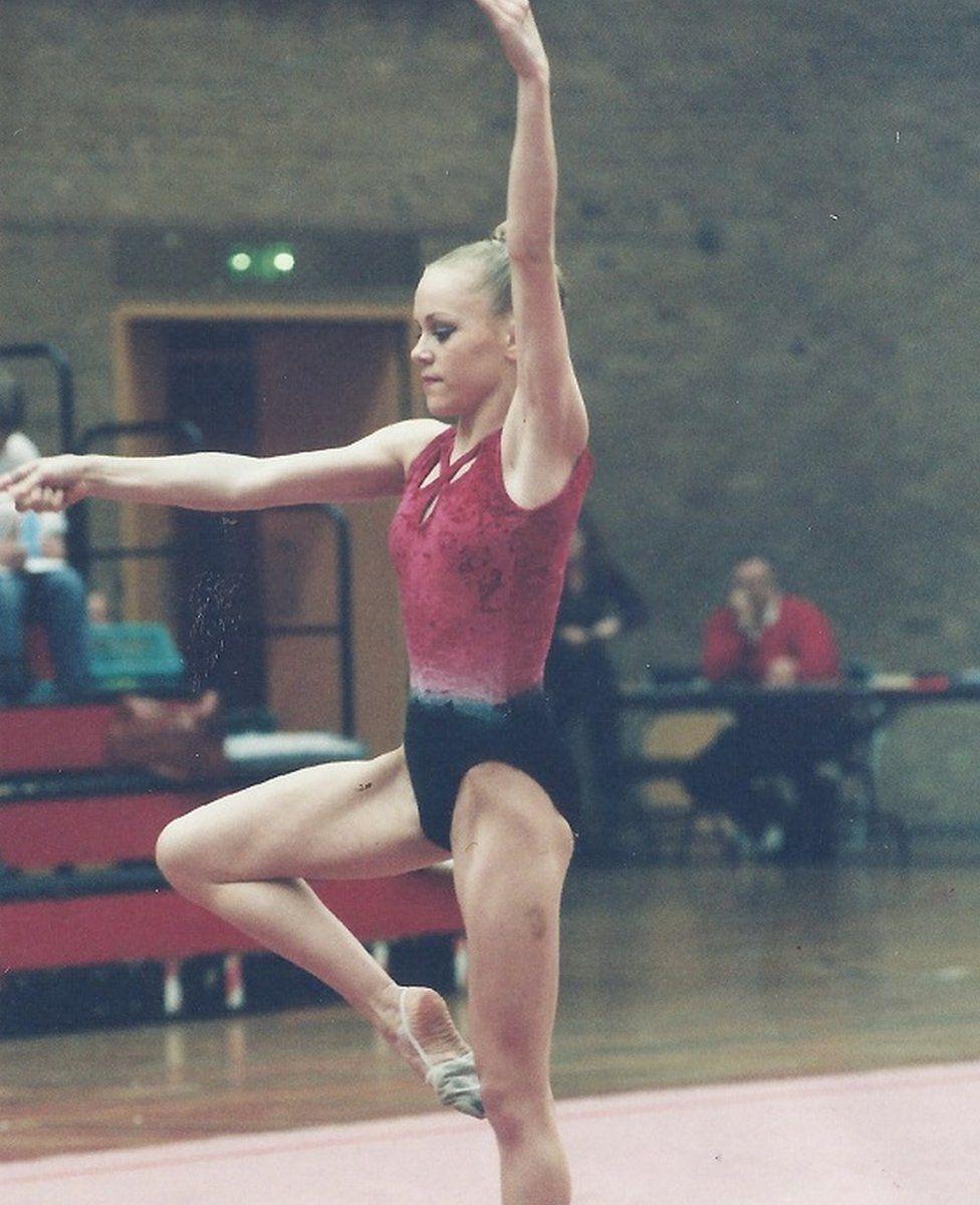 Debbie when she did gymnastics