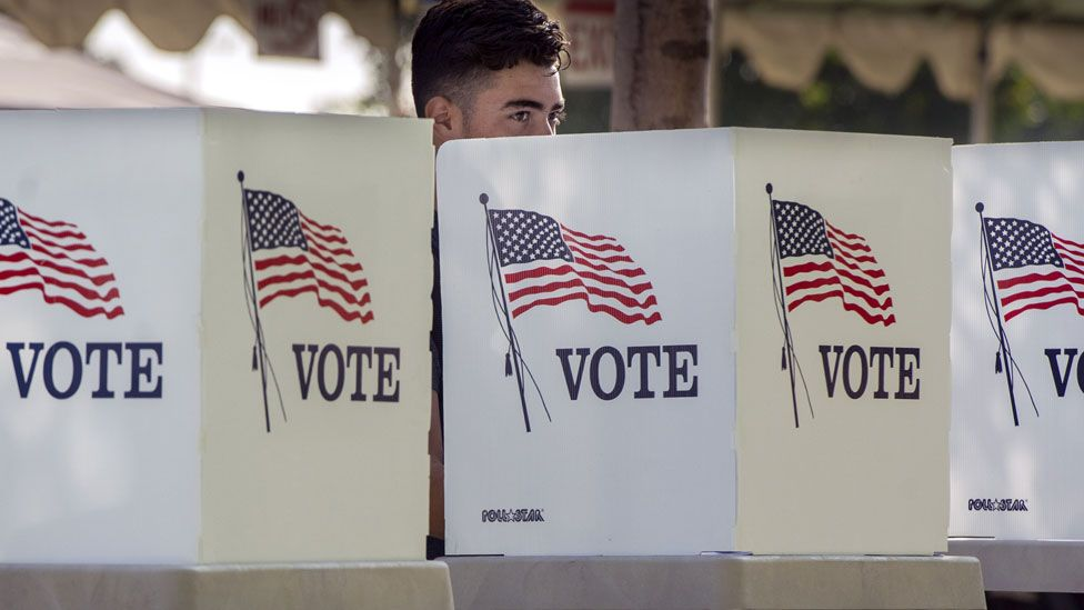 Early voter in California