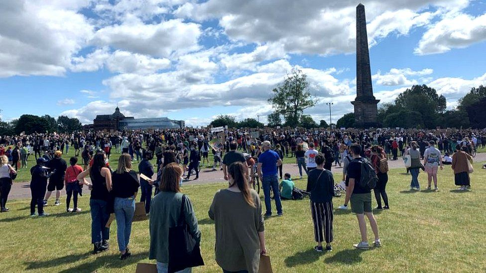 Glasgow Green saw thousands of protesters join the demonstration
