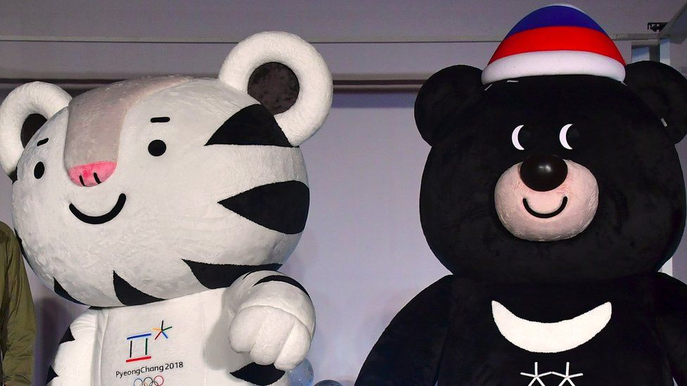 Soohorang and Bandabi, the 2018 Winter Olympic mascots