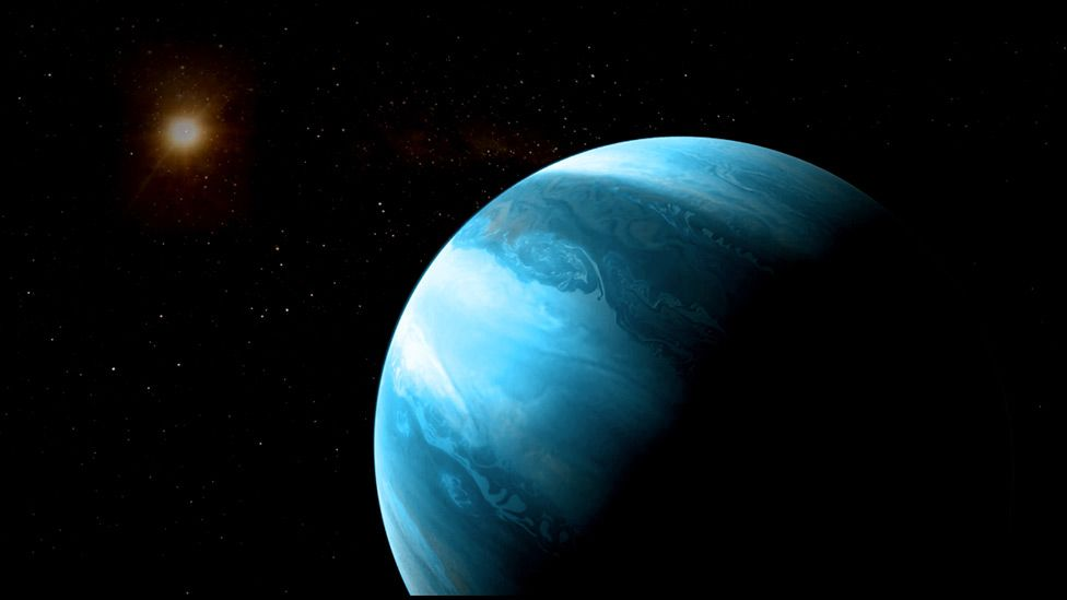 The gaseous world and its star are about 30 light-years from us