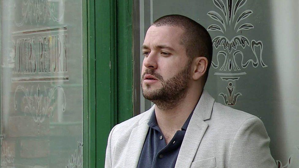 Shayne Ward as Aidan in Coronation Street