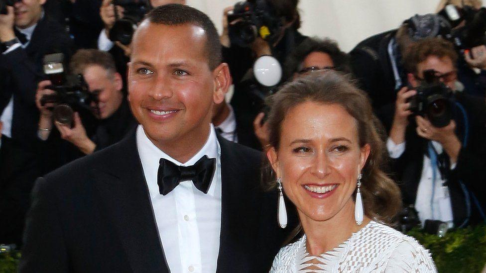 Anne Wojcicki with former partner Alex Rodriguez