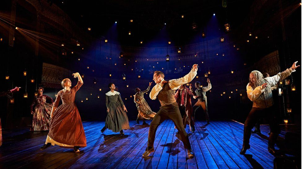 The cast of the Old Vic's A Christmas Carol