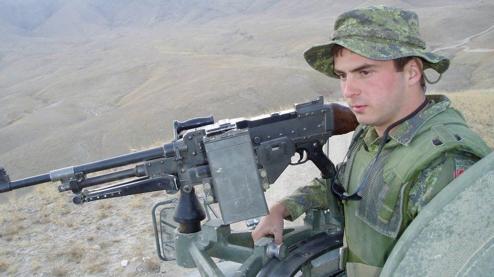 Private Thomas Welch in Afghanistan