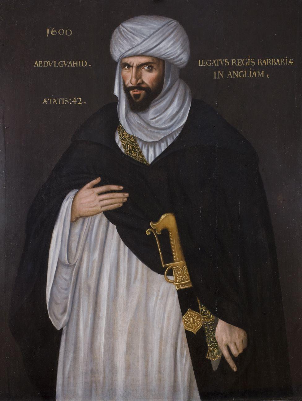 Abd el-Ouahed ben Messaoud ben Mohammed Anoun, Moorish Ambassador to Queen Elizabeth I, 1600, oil on panel
