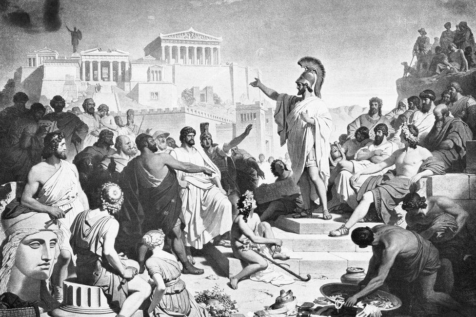 Pericles, giving one of his orations