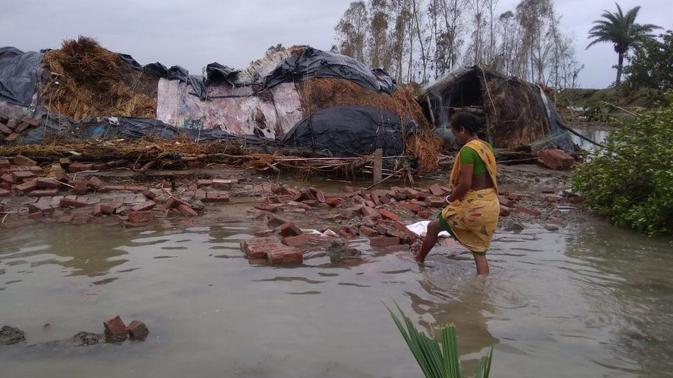 Cyclone Amphan has destroyed many houses in the region