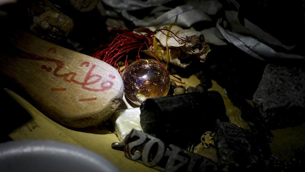 'Cursed' objects on display