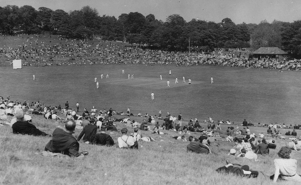 Cricket Match at Roundhay Park, taken by Thomas Trigg on Whit Monday 1944
