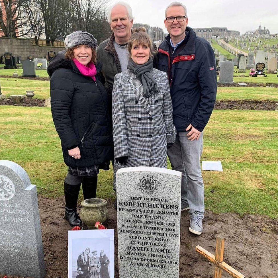 Relatives at memorial