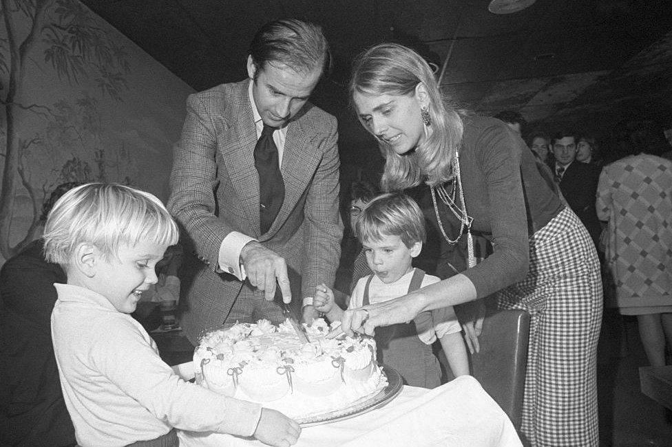 Biden with wife Neilia in 1972