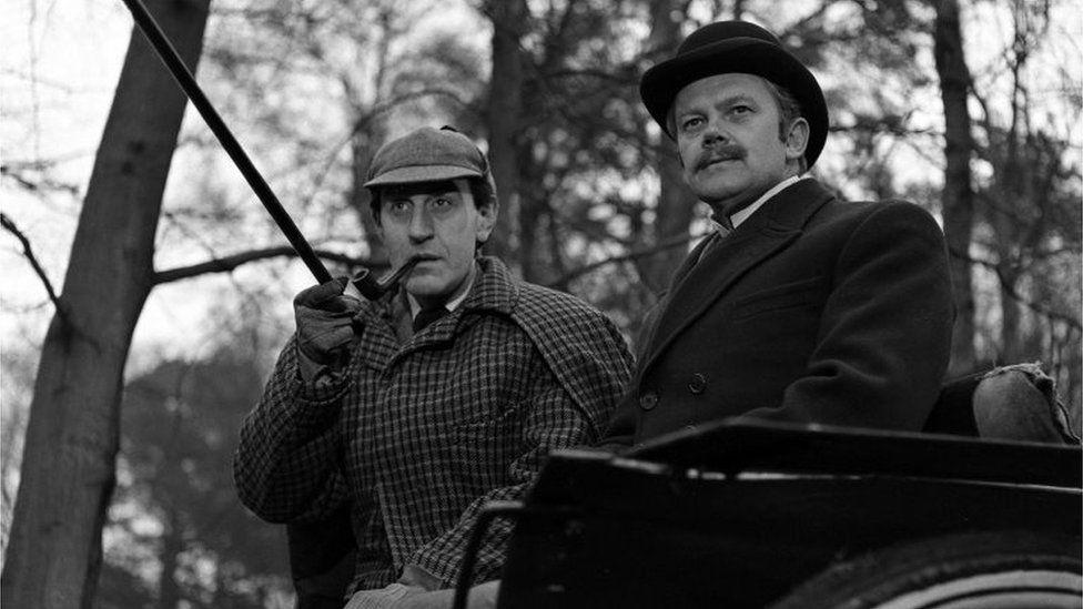 Douglas Wilmer as Sherlock Holmes and Nigel Stock as Watson in 1964