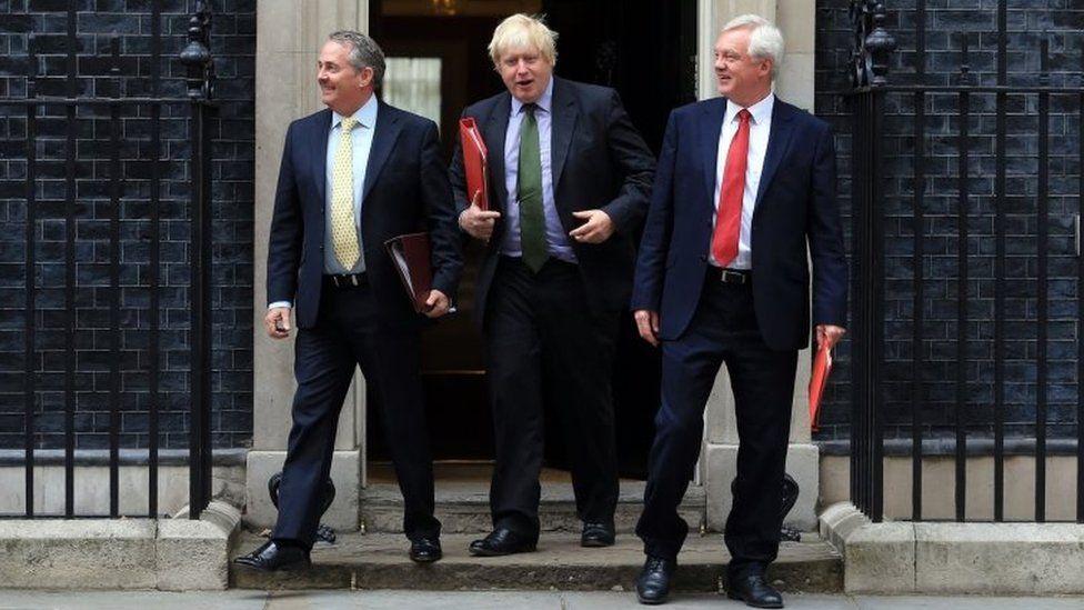 Liam Fox, Boris Johnson, and David Davis