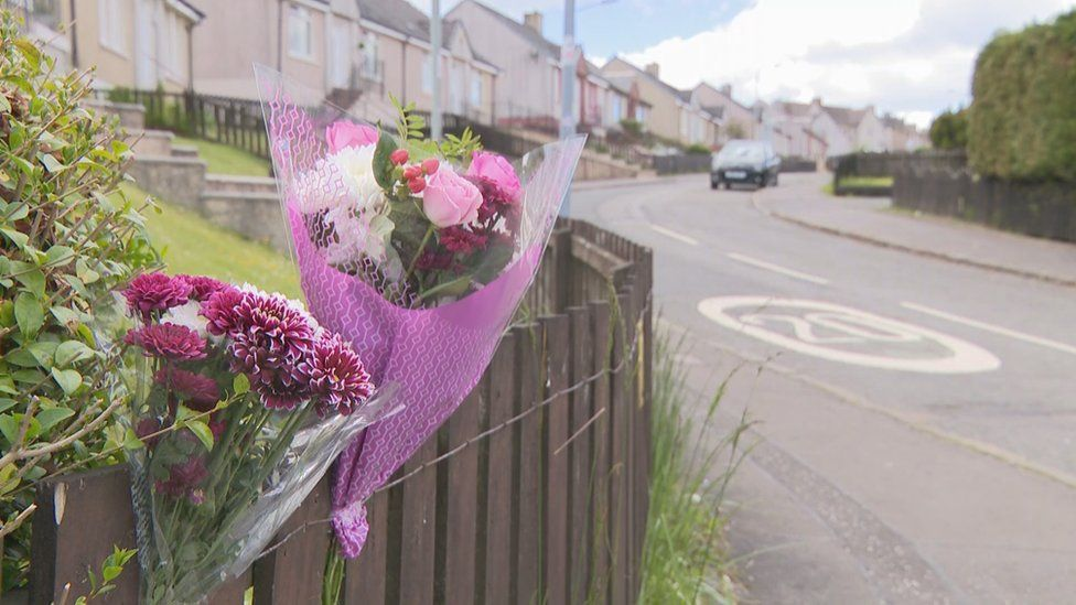 Flowers at scene of accident