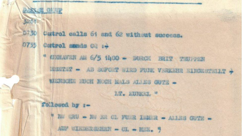 Message intercepted by Bletchley Park