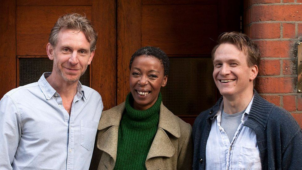 The new cast members of Harry Potter and the Cursed Child pose together. Jamie Parker will play Harry Potter, Paul Thornley is Ron Weasley and Noma Dumezweni has been cast as Hermione Granger